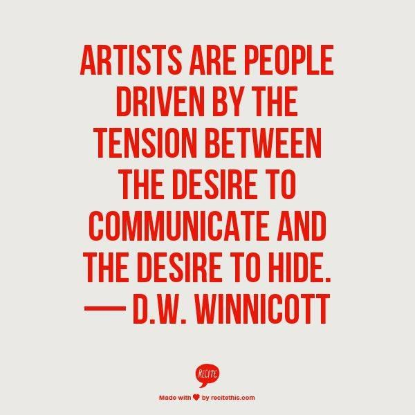 d.w. winnicott - artists